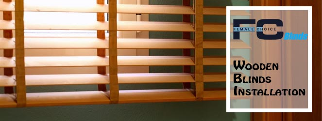 Wooden Blinds Installation